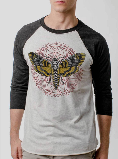 Death Head - Multicolor on Heather White and Black Triblend Raglan