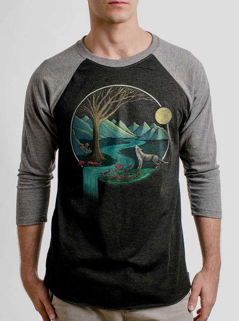 Spirit Animal - Multicolor on Heather Black and Grey Triblend Raglan
