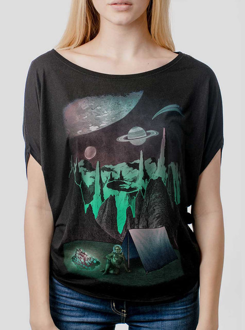 Space Camp - Multicolor on Black Women's Circle Top