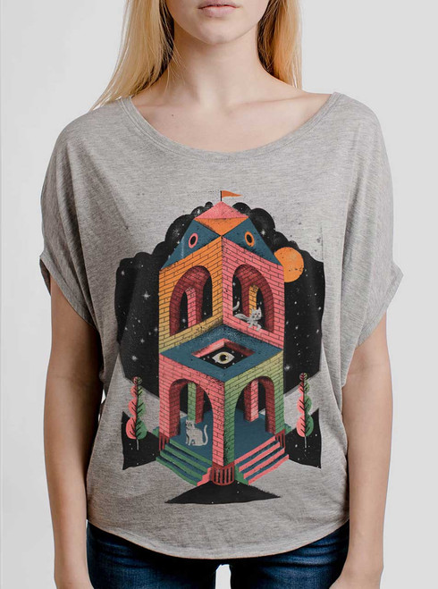 Space Cathedral - Multicolor on Athletic Heather Women's Circle Top