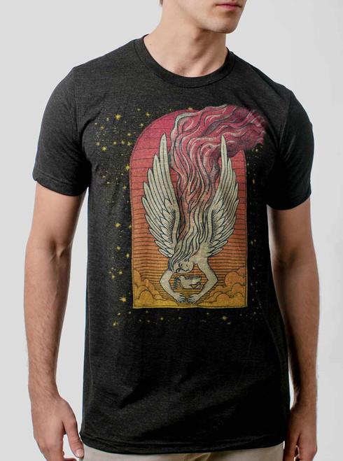 Angel - Multicolor on Heather Black Triblend Mens T Shirt