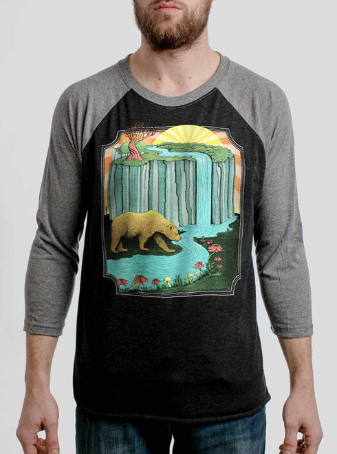 Bear Country - Multicolor on Heather Black and Grey Triblend Raglan