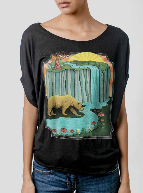 Bear Country - Multicolor on Black Women's Circle Top