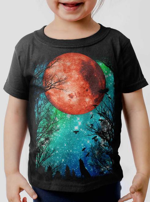 Blood Moon - Multicolor on Black Toddler T-Shirt