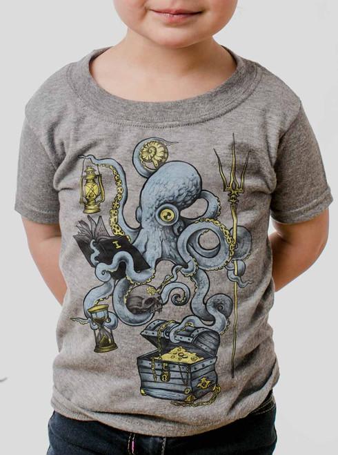 Evolution - Multicolor on Heather Grey Toddler T-Shirt