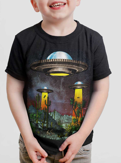 UFOs - Multicolor on Black Toddler T-Shirt
