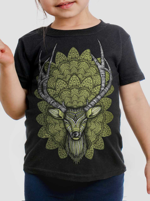 Buck Head - Multicolor on Black Toddler T-Shirt