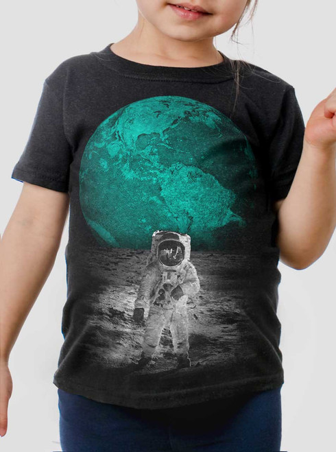 Spaceman - Multicolor on Black Toddler T-Shirt