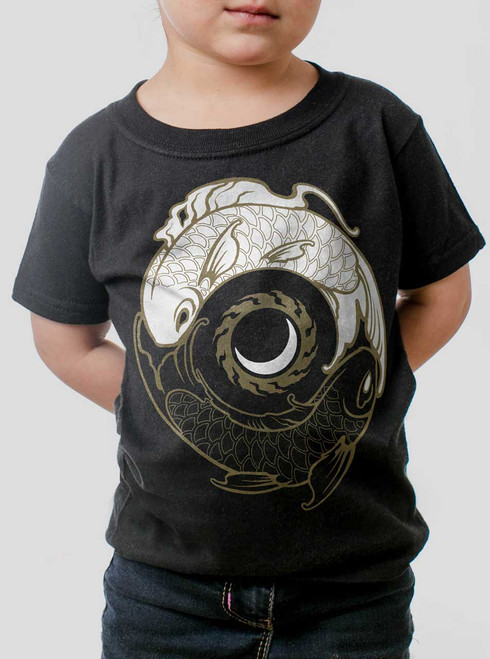Koi Balance - Multicolor on Black Toddler T-Shirt