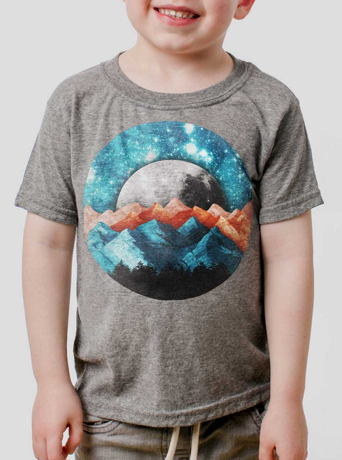 The Mountains - Multicolor on Heather Grey Toddler T-Shirt