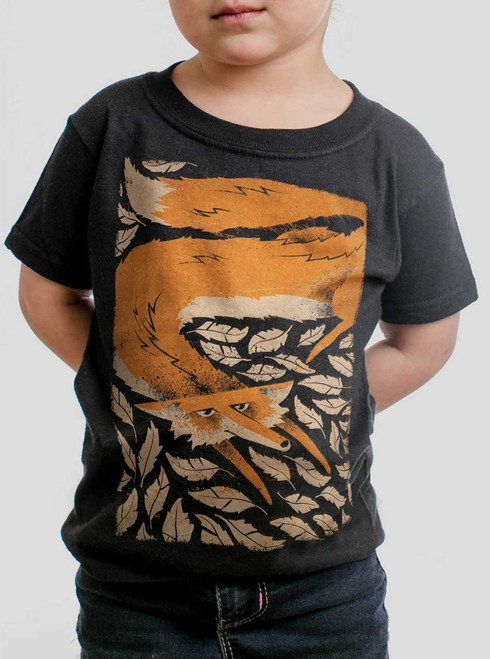 Fox in the Henhouse - Multicolor on Black Toddler T-Shirt