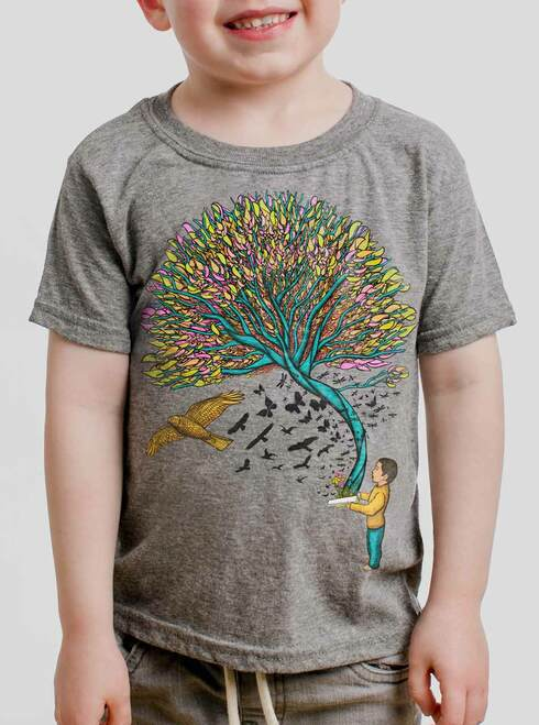 Imagination - Multicolor on Heather Grey Toddler T-Shirt