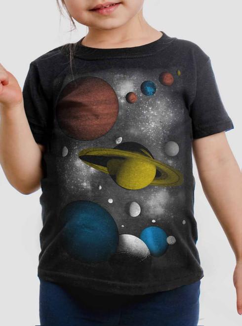 Solar - Multicolor on Black Toddler T-Shirt