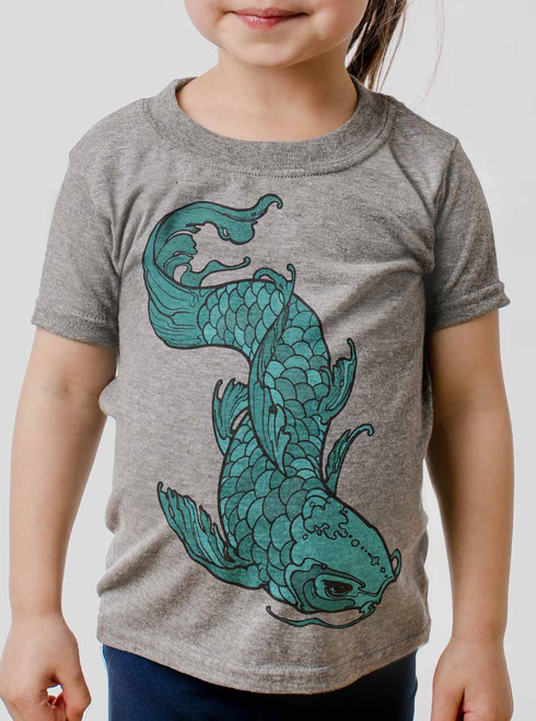 Koi - Multicolor on Heather Grey Toddler T-Shirt