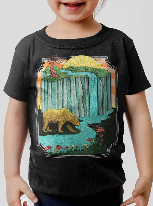 Bear Country - Multicolor on Black Toddler T-Shirt