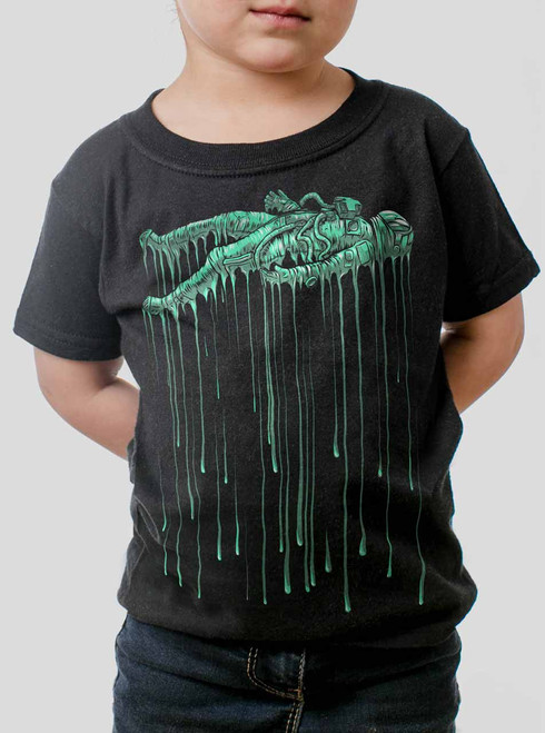 Astro Drip - Multicolor on Black Toddler T-Shirt