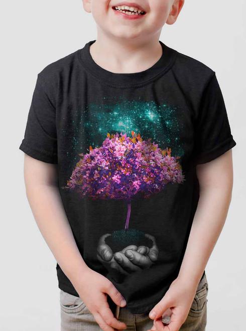 Creation - Multicolor on Black Toddler T-Shirt
