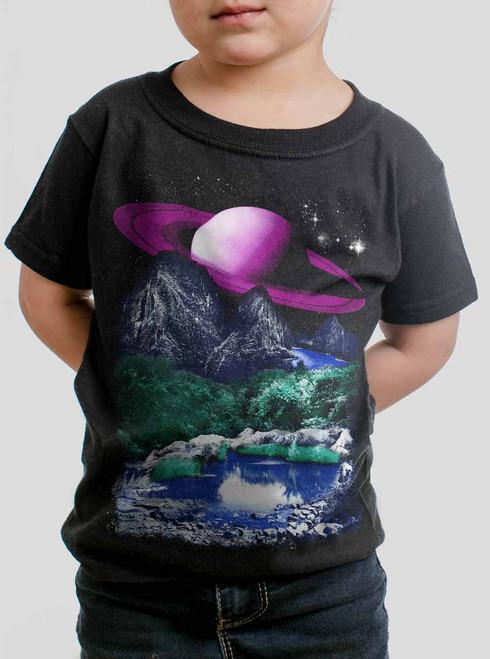 Alien World - Multicolor on Black Toddler T-Shirt
