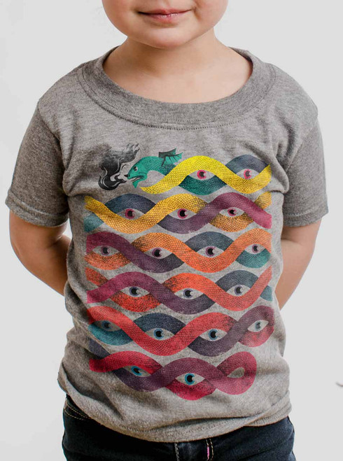 Wyrm - Multicolor on Heather Grey Toddler T-Shirt