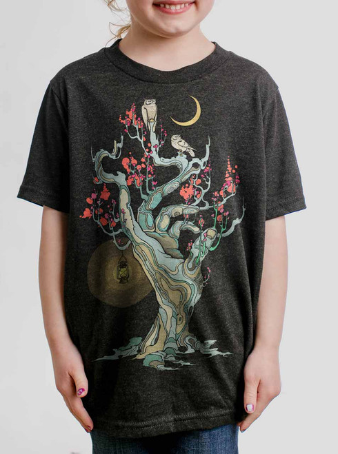 Night Owls - Multicolor on Heather Black Triblend Youth T-Shirt
