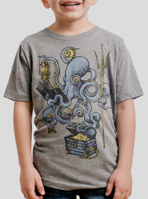 Evolution - Multicolor on Heather Grey Triblend Youth T-Shirt