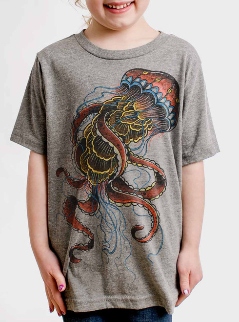 Jelly - Multicolor on Heather Grey Triblend Youth T-Shirt