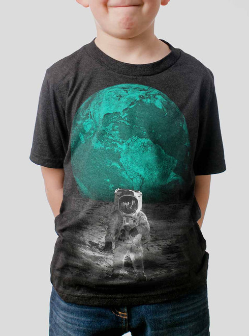 Spaceman - Multicolor on Heather Black Triblend Youth T-Shirt