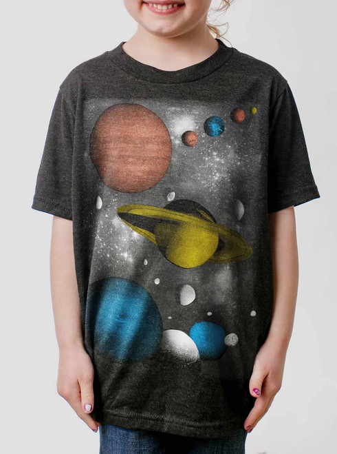 Solar - Multicolor on Heather Black Triblend Youth T-Shirt