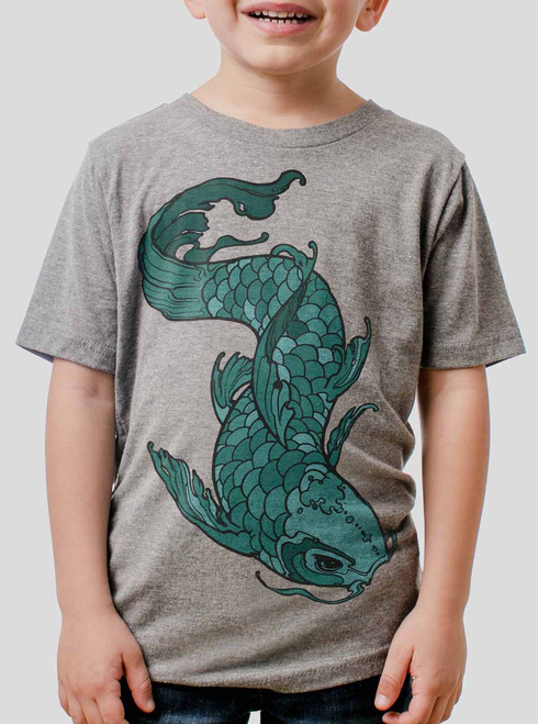 Koi - Multicolor on Heather Grey Triblend Youth T-Shirt