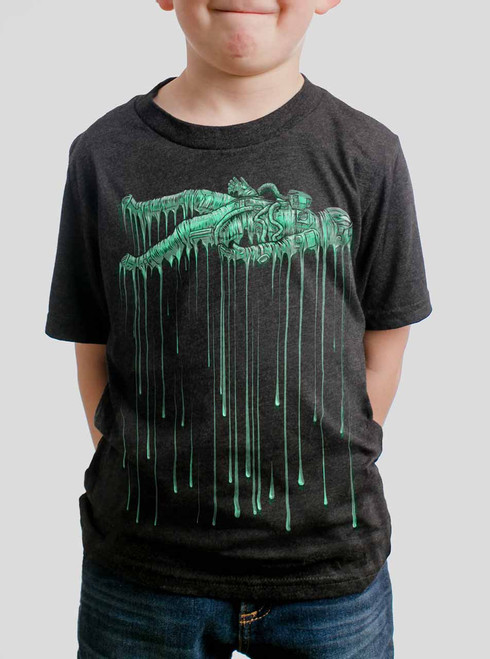 Astro Drip - Multicolor on Heather Black Triblend Youth T-Shirt