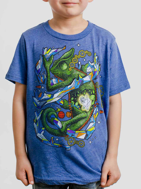 Chameleon - Multicolor on Heather Royal Triblend Youth T-Shirt