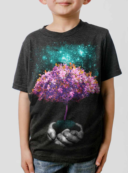 Creation - Multicolor on Heather Black Triblend Youth T-Shirt