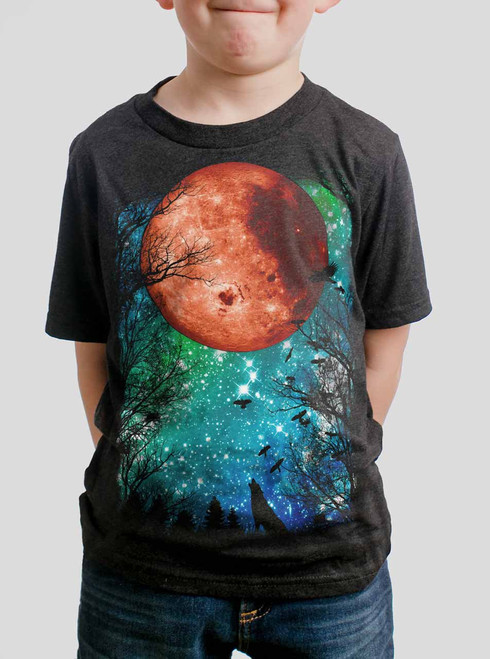 Blood Moon - Multicolor on Heather Black Triblend Youth T-Shirt
