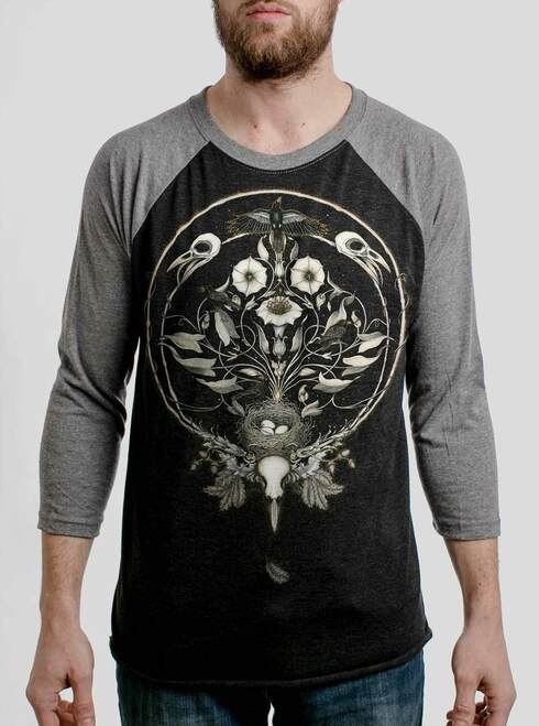 The Raven's Drum - Multicolor on Heather Black and Grey Triblend Raglan