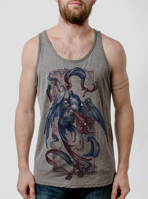 Human Weakness - Multicolor on Heather Grey Triblend Mens Tank Top
