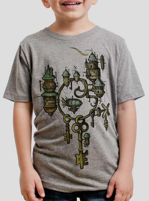 Key Kingdom - Multicolor on Heather Grey Triblend Youth T-Shirt
