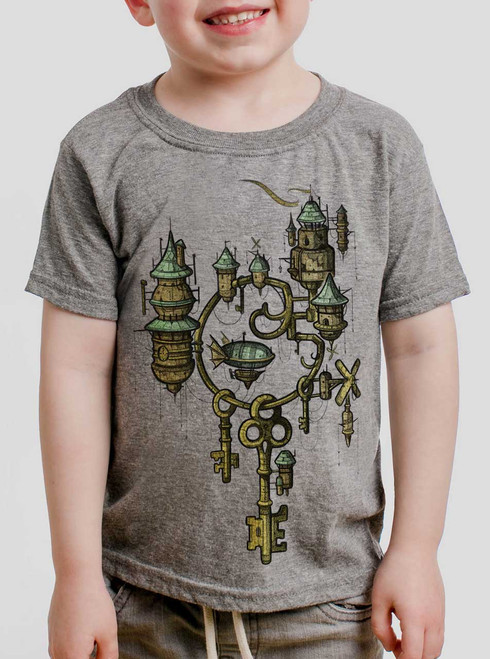 Key Kingdom - Multicolor on Heather Grey Toddler T-Shirt