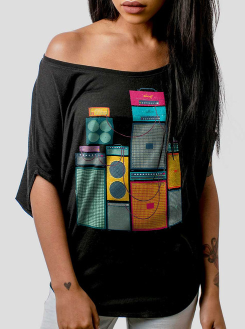 Amp Stack - Multicolor on Black Women's Circle Top
