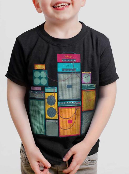 Amp Stack - Multicolor on Black Toddler T-Shirt