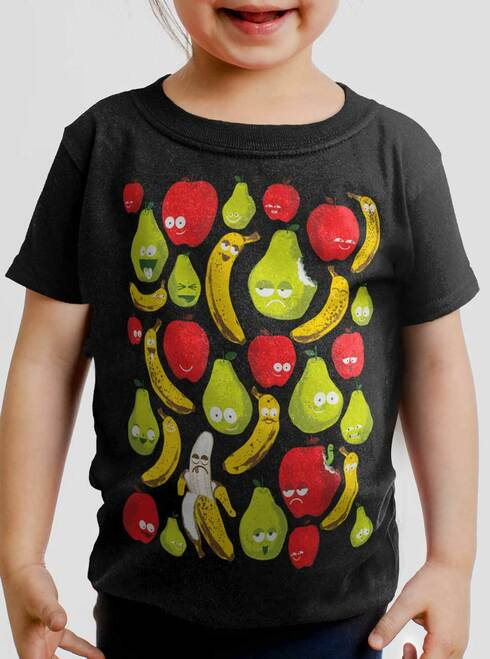 Fruit - Multicolor on Black Toddler T-Shirt