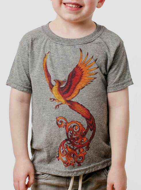Phoenix - Multicolor on Heather Grey Toddler T-Shirt