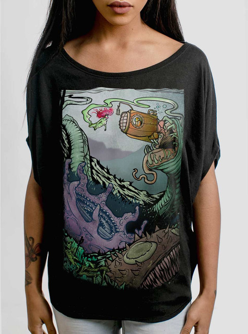 Space Sub - Multicolor on Black Women's Circle Top