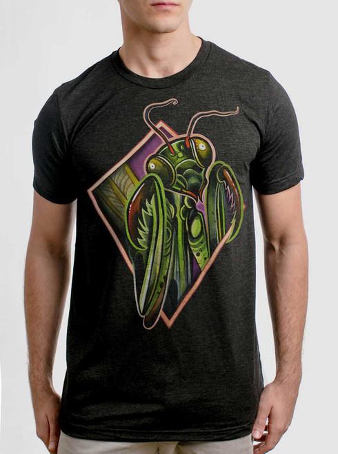 Mantis - Multicolor on Heather Black Triblend Mens T Shirt