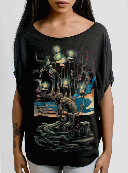Mourning - Multicolor on Black Women's Circle Top