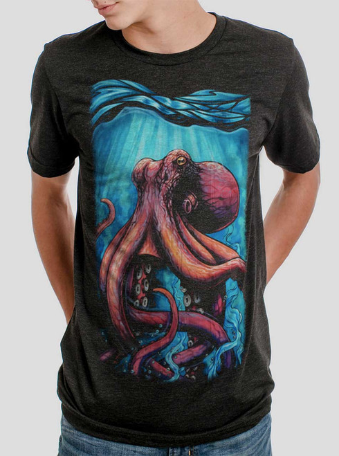 Octo - Multicolor on Heather Black Triblend Mens T Shirt