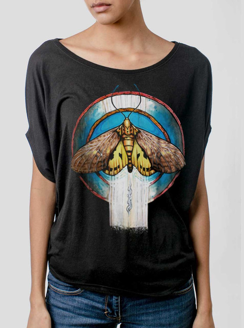 Moth - Multicolor on Black Women's Circle Top