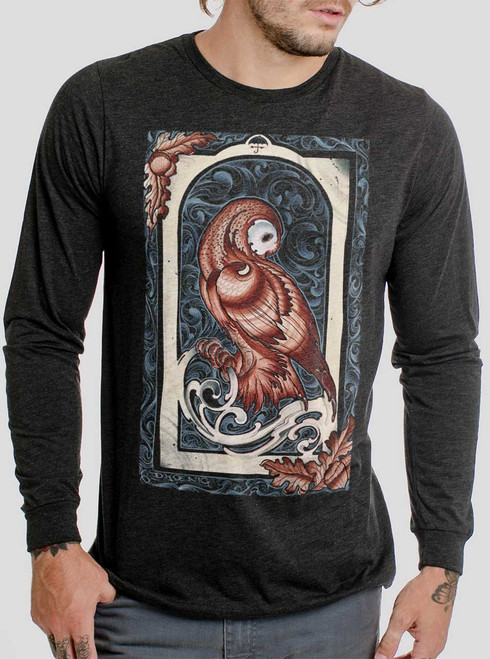 Forbearance - Multicolor on Heather Black Triblend Men's Long Sleeve