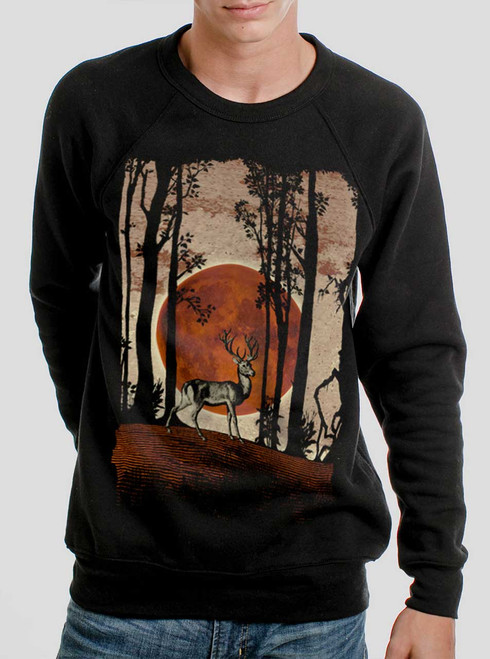 Buck Moon - Multicolor on Black Men's Sweatshirt