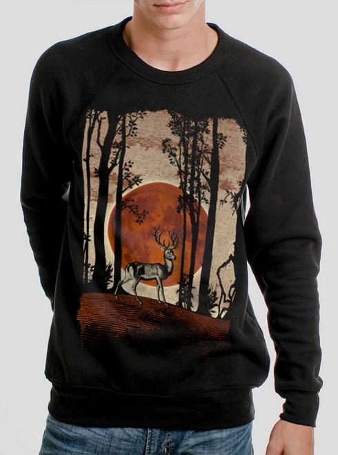 Buck Moon - Multicolor on Black Men's Sweatshirt