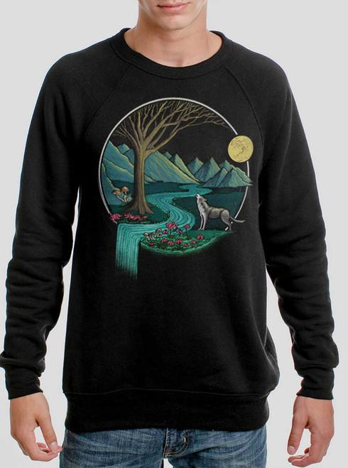 Spirit Animal - Multicolor on Black Men's Sweatshirt